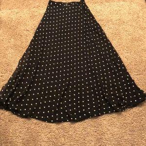 Forever 21 Black and white maxi skirt.